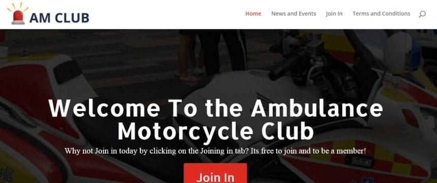 Ambulance Motorcycle Club Crash card