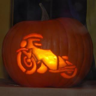 Spooky motorbike