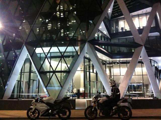 Motorcycle ride around London