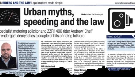 Urban myths, speeding and the law