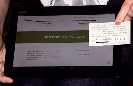 GPZ300 Prize Draw Number w/c 19 September 2014