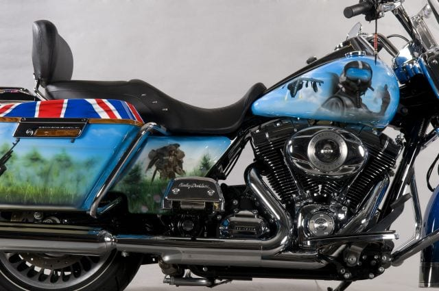 Royal British Legion Custom Motorbike