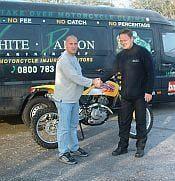 Prize bike replaces stolen bike