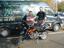 Prize bike winner
