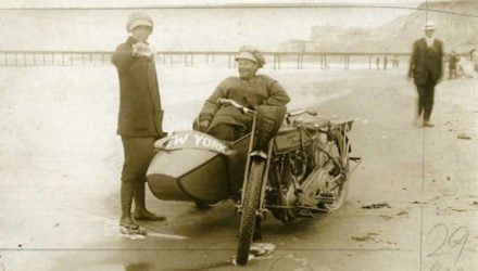 Avis and Effie Hotchkiss Harley Sidecar
