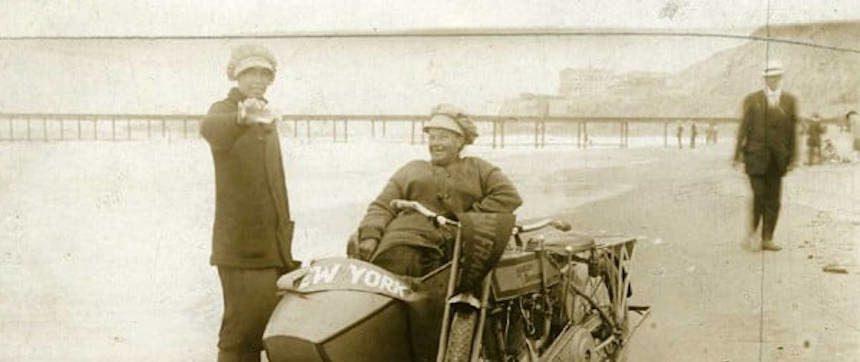 Avis and Effie Hotchkiss Harley Sidecar